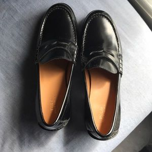 NWOT Ralph Lauren Heeled Leather Loafers